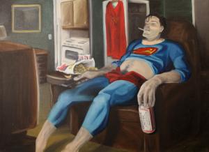 Superman on the Rocks by Issa Ibrahim